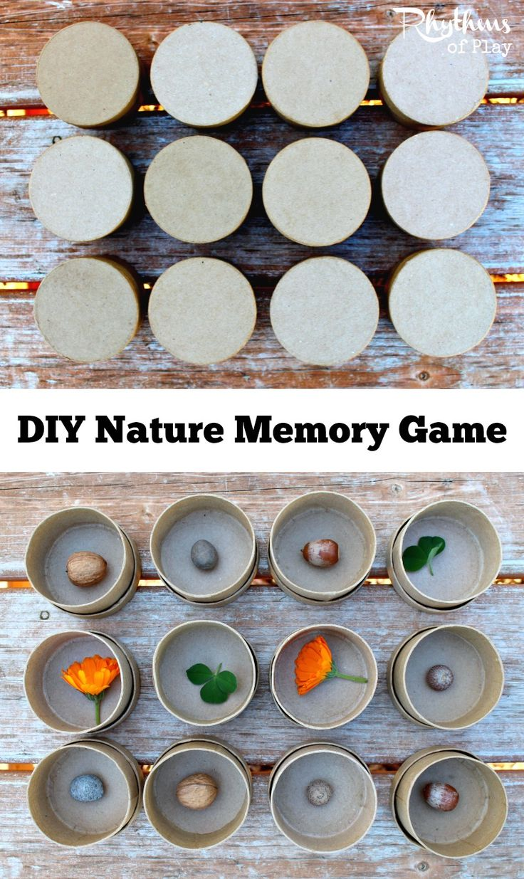 Educational game and sensory activity for preschoolers and up. Playing nature memory helps kids develop focus, memory, and recognition skills. This DIY game can also teach math and science concepts. Works well in schools, homeschool education, Waldorf education, and in Montessori-inspired activities.