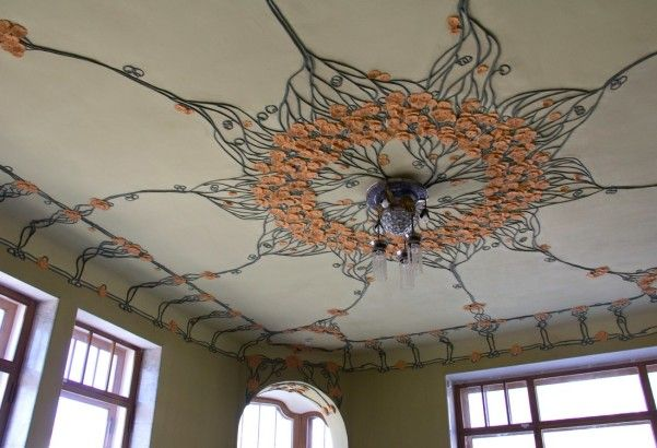 Особняк Курлиной декор потолка