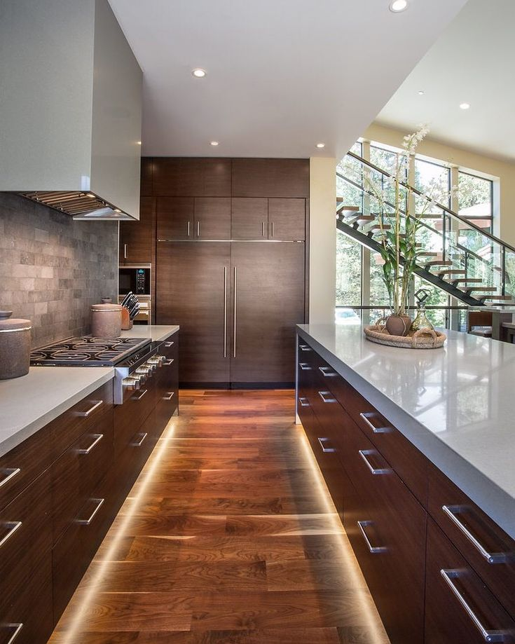 Inspiration: a contemporary kitchen with recessed ceiling ...