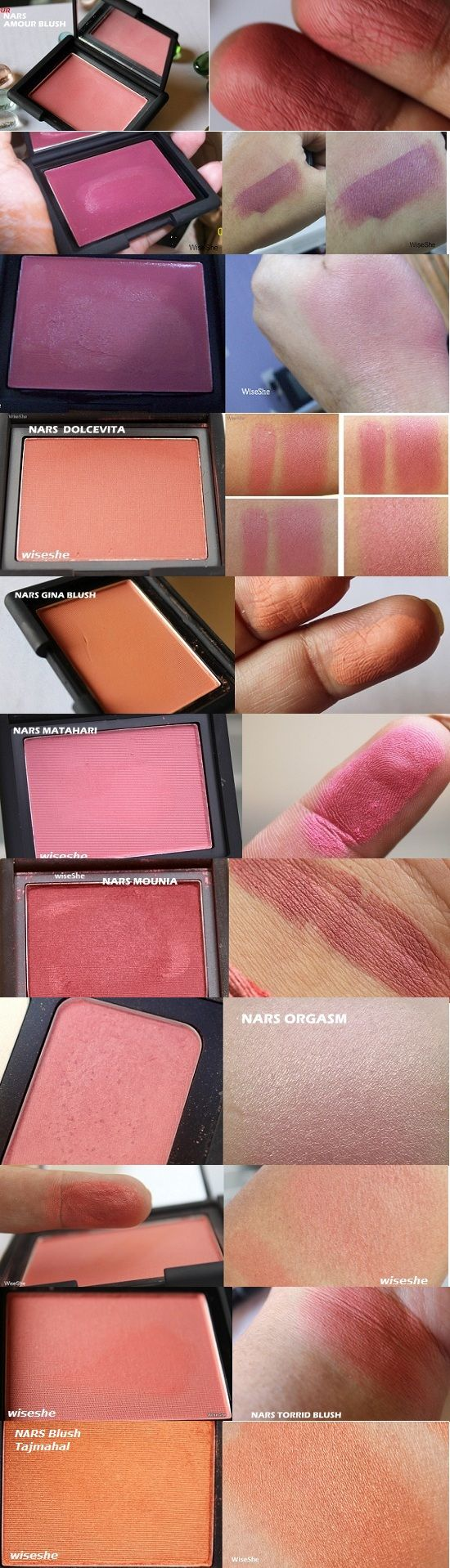 Best Nars blushes/Best Nars Blushes For Olive Skin tone