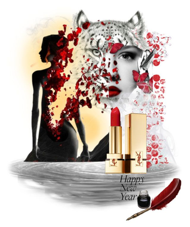 2014 NYE by betiboop8 on Polyvore featuring beauty, Yves Saint Laurent, NewYears, contest and Beauty