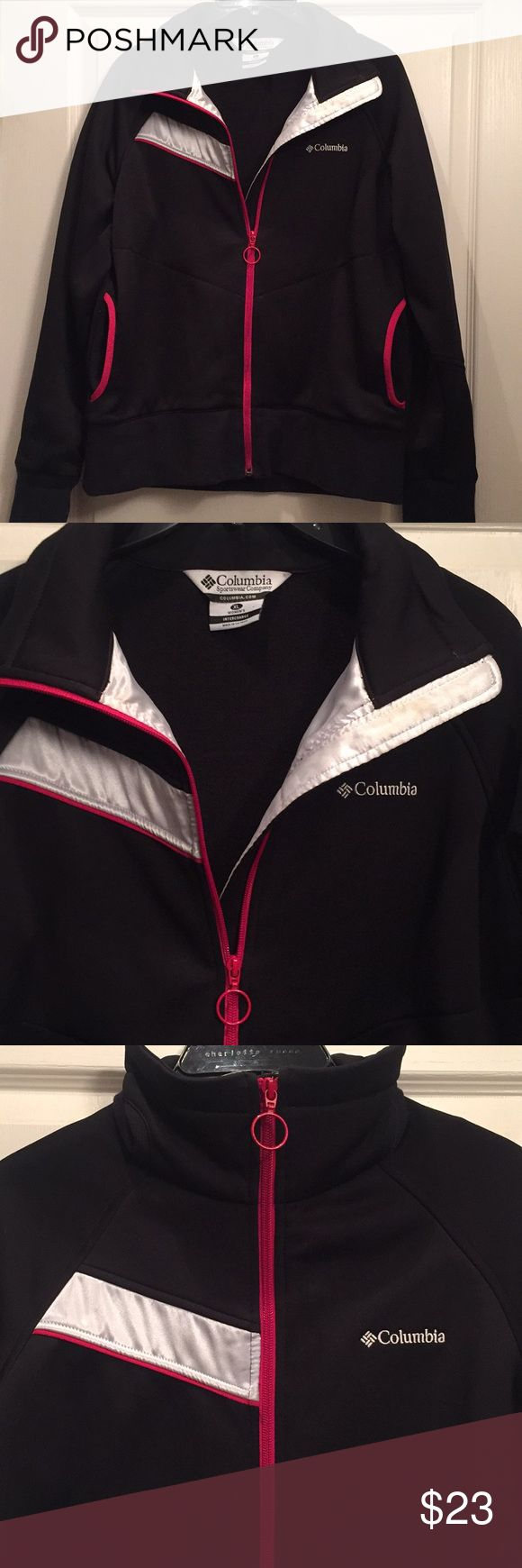 Columbia Interchange Soft Shell Jacket Black Columbia soft shell jacket with red trim. Size XL. Previously loved jacket in great condition! Columbia Jackets & Coats