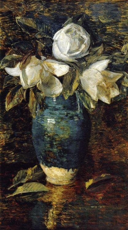 Cozyhuarique - huariqueje:      Giant Magnolias - Frederick Childe Hassam ,1904      Impressionism