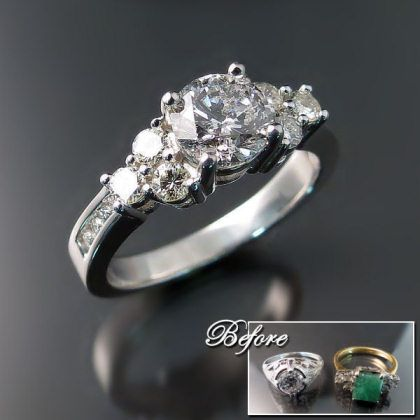 1000 images about new life in old rings on pinterest With wedding ring redesign ideas