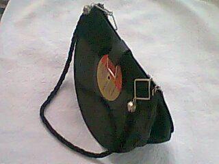cartera con reciclado de disco vinilo