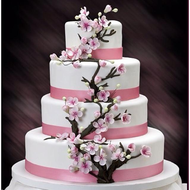 Sakura wedding cake   My Dream Wedding