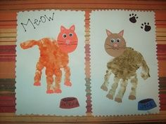 cute pets theme handprint craft