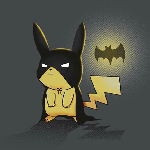 I'm pikachu... (I said that is a batman voice... But you don't care ok)