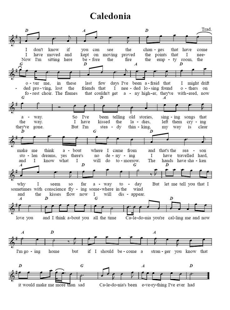 Caledonia Sheet music, Bagpipe music, Caledonia