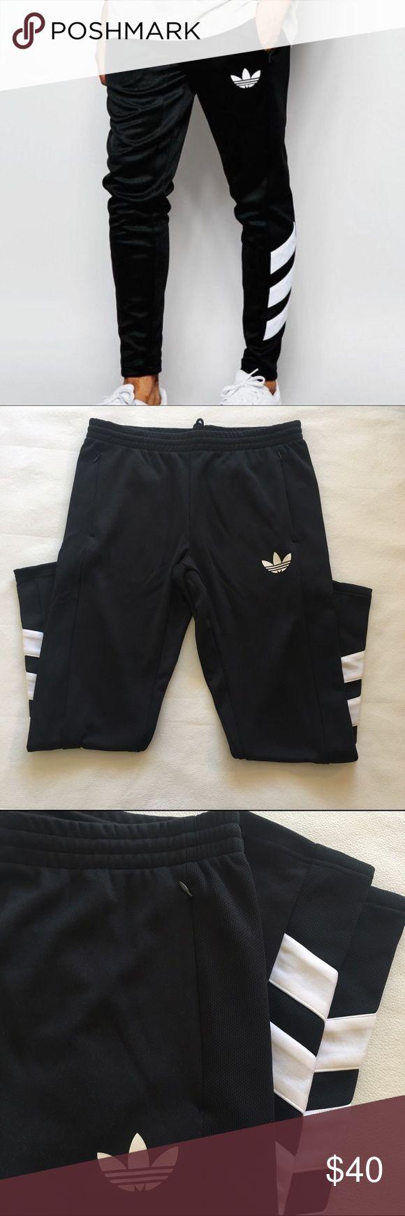 Men's Adidas Logo Trackpants Super cool  Adidas originals men's track pants with on trend slim leg fit. Machine washable. Excellent condition, never worn! Adidas Pants Sweatpants & Joggers
