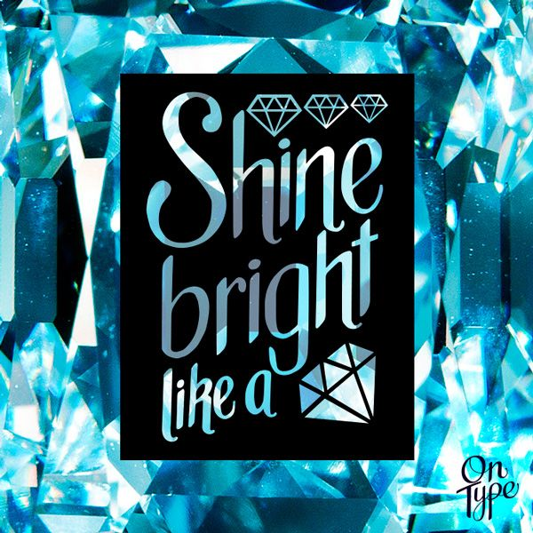 #Rihanna - Shine bright like a #diamond  . . . #music #love #lettering #type #typography #onType #handlettering #calligraphy #vector