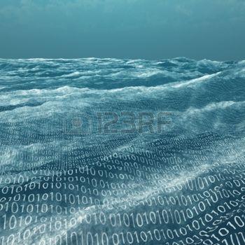 données: Vaste mer code binaire Banque d