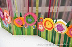 Rozkvitnutá lúka z kartónu | Neposedné nožnice