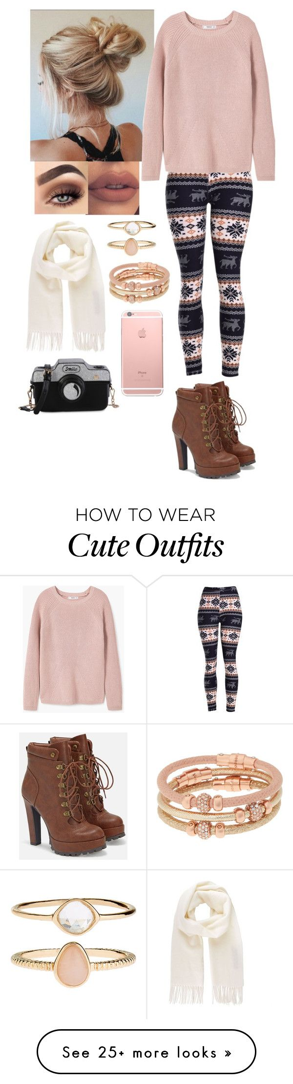 """Sweater Weather Cute Outfit #41"" by directioner66234 on Polyvore featuring MANGO, Vivienne Westwood, JustFab, Accessorize and Henri Bendel"