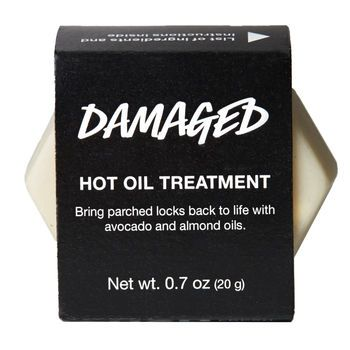 $9.95 If your hair feels like damaged goods, stir up your routine with this hot oil treatment. Melt down the solid treatment and smooth the rich mixture through your locks. Extra virgin olive oil, almond oil and organic avocado oil nourish parched hair, leaving it smooth and shiny, and fair trade vanilla absolute perfumes locks with a long-lasting sweet and comforting scent.