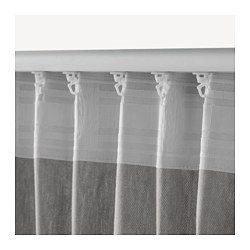 INGERT Curtains With Tie Backs 1 Pair Gray