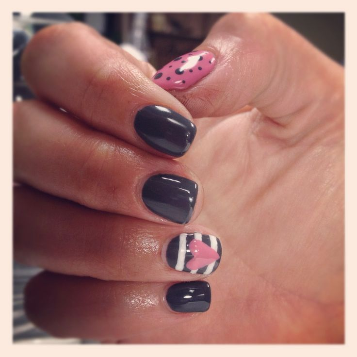 Pinterest inspired shellac nails by Natalie