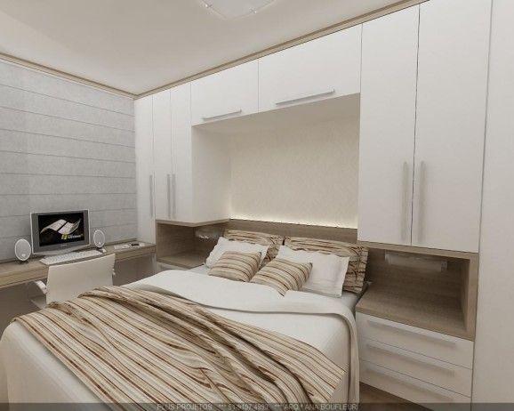 Decoração de quarto de casal pequeno e moderno