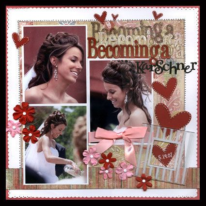 Becoming wedding layout by clairbug scrapbooking pinterest mariage la - Idee scrapbooking amour ...