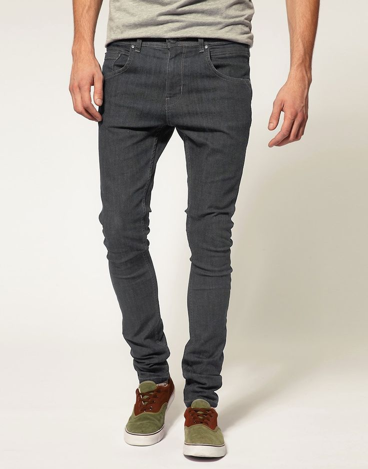 Мужские джинсы Asos Extreme Super Skinny Jeans With Rips