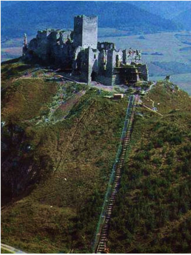 Strecno Castle Start reconstruction in 1978