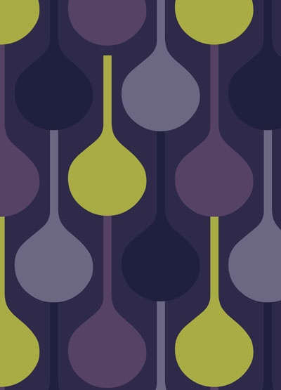 purple and green... I want this pattern for my living room curtains but i havent been able to find it anywhere for sale :(