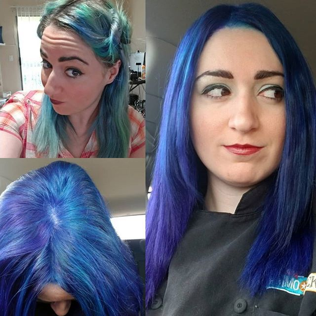 Top Left Before The Dye And After Purple And Blue It S Gonna
