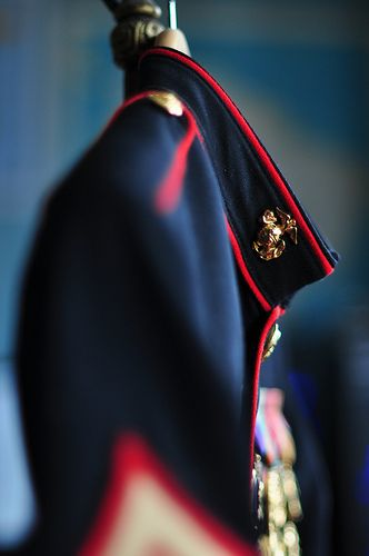 I like this picture...perhaps a pic of Mike's uniform and my dress before we put it on...? and obviously not Marines...