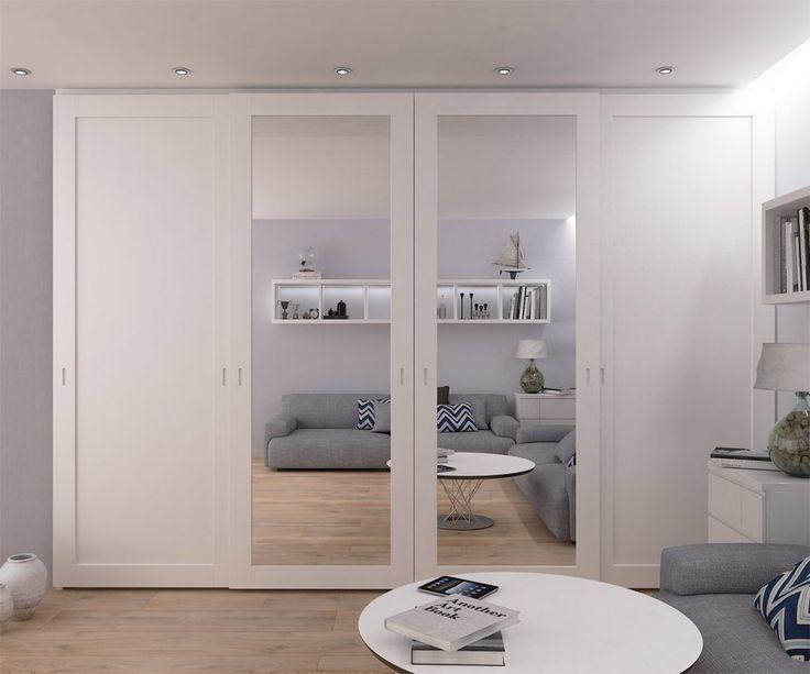 Quarto range of sliding doors with mirrors inside