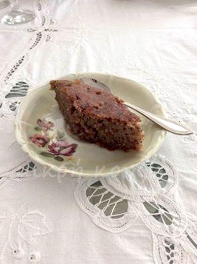 μικρή κουζίνα: Σιροπιαστή αμυγδαλόπιτα με σοκολάτα