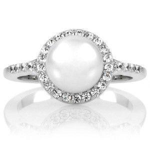 Pearl Diamond engagement ring!