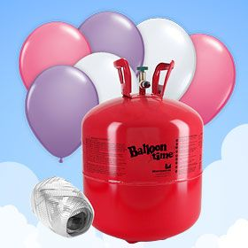 This Helium Canister 30 with Balloons and Ribbon UK delivery ONLY