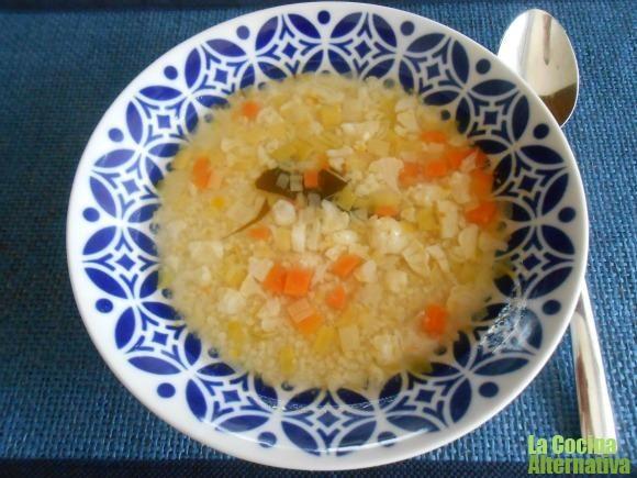Receta de sopa de mijo con verduritas | La Cocina Alternativa