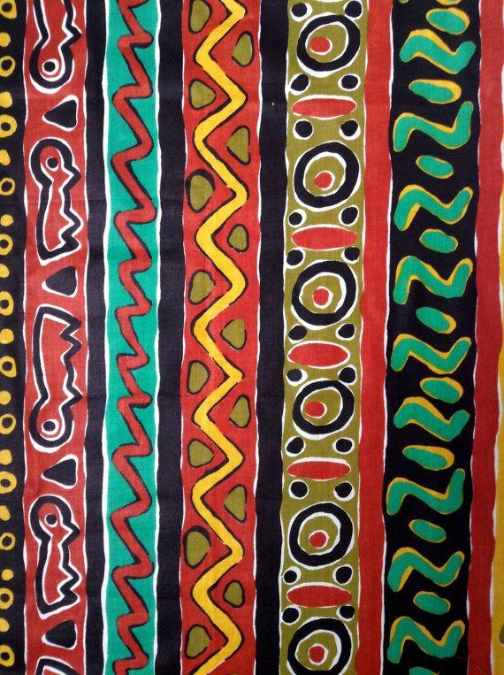 Tissu africain idéal pour du patchwork et pour par AfricanTextiles