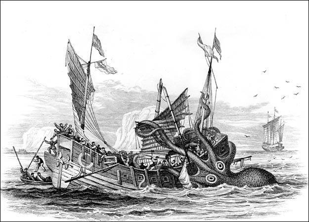 sea monster with ship - Google Search