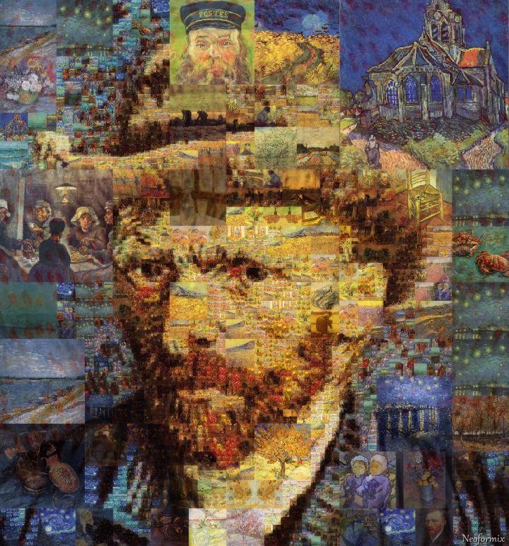 Van Gogh Mosaic Portraits by Jeff Clark