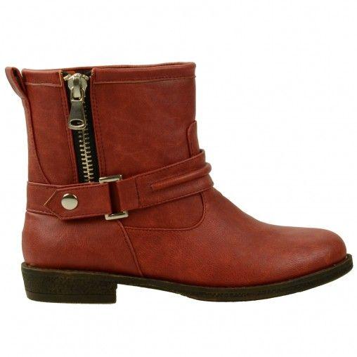 SACHA // Zipper boots €49,95 #sachashoes #red