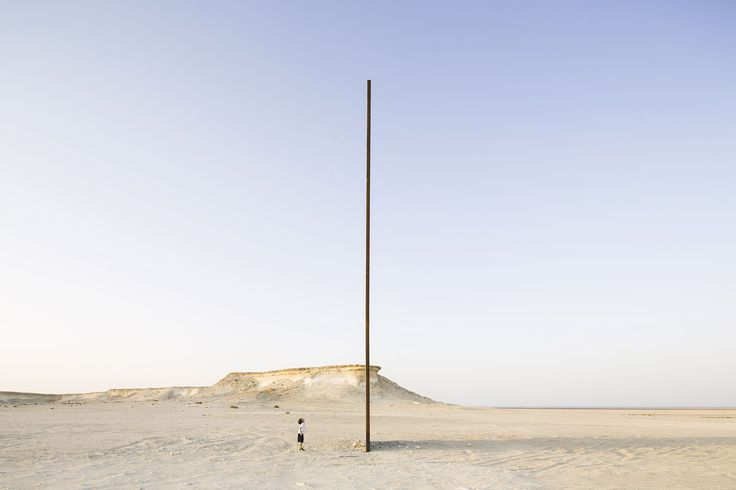 "Richard Serra's East-West/West-East Rises in the Qatari Desert,""East-West/West-East"" / Richard Serra. Image © Nelson Garrido"