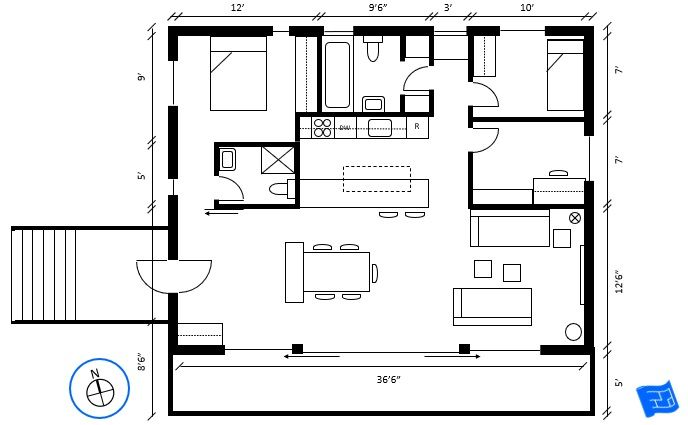 How To Read Floor Plans Locate The Compass Mark To Determine The Orientation Of The Floor Plan Click Through Floor Plans Floor Plan Symbols Free Floor Plans