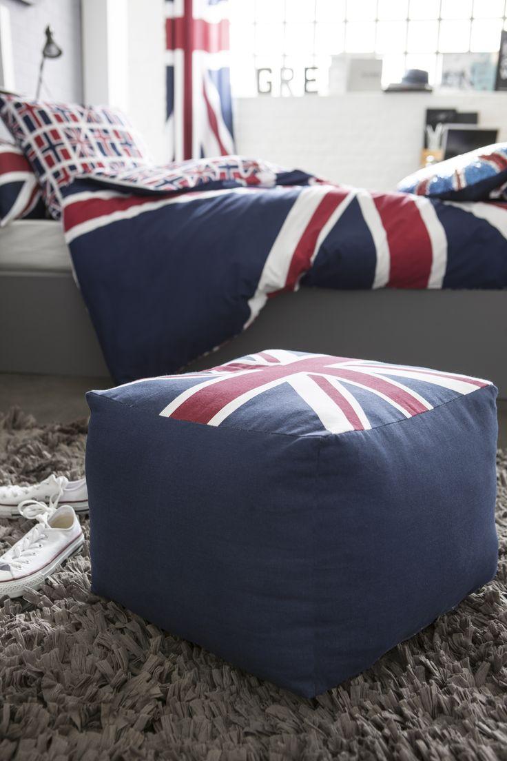 les 9 meilleures images du tableau union jack by lefebvre textile sur pinterest art chambre. Black Bedroom Furniture Sets. Home Design Ideas