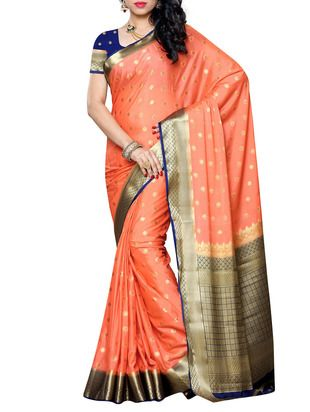 Check out what I found on the LimeRoad Shopping App! You'll love the Orange Silk Blend Self Design Saree. See it here http://www.limeroad.com/products/11578094?utm_source=cf8863ad08&utm_medium=android