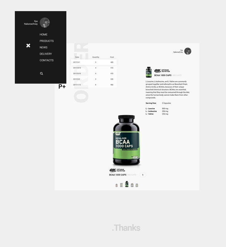 Sport nutrition store concept. #Be #behance #web #website #design #UI #UX #site #webdesign  #ecommerce