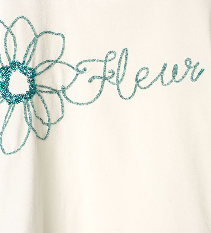 Embroidered appliqué top