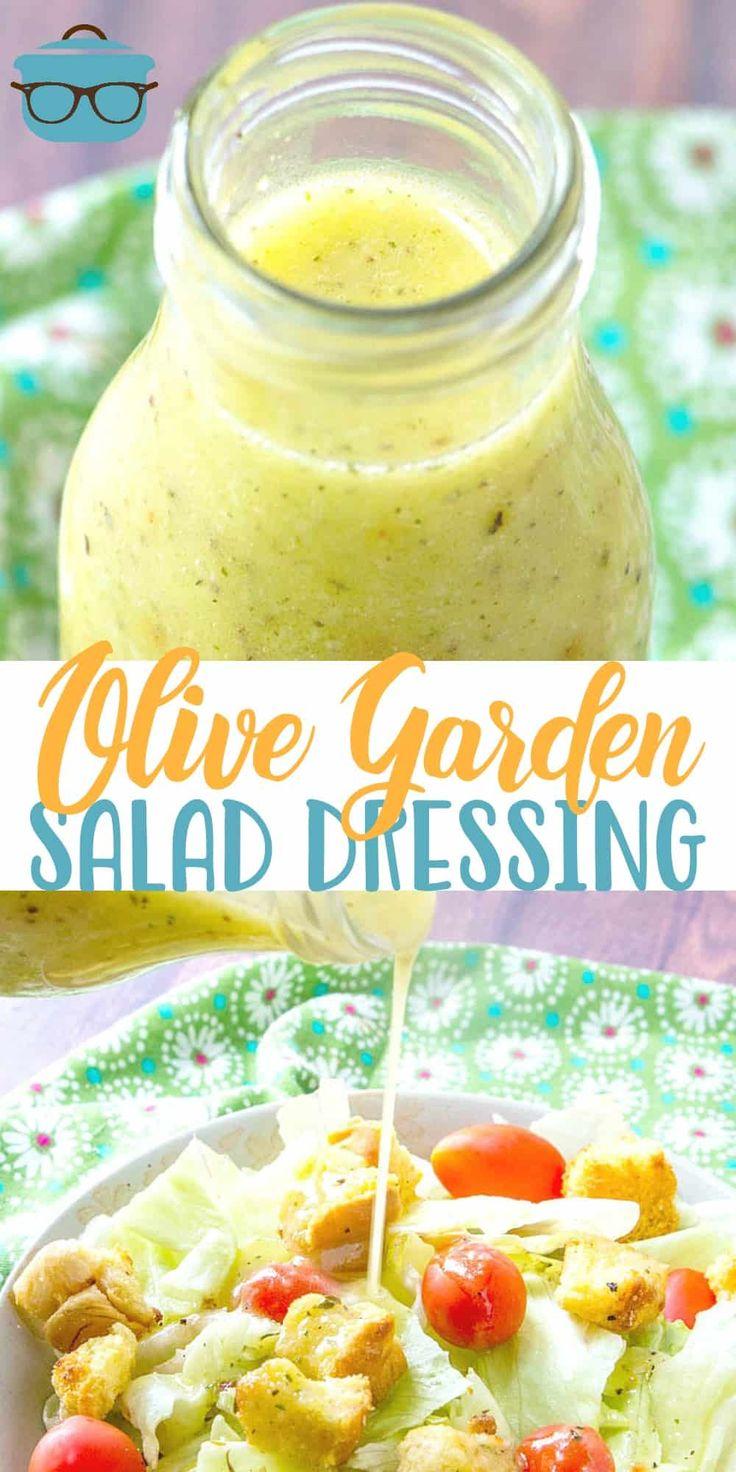 Diese hausgemachte Nachahmer Olive Garden Salad Dressing schmeckt noch besser als die oder …  – Cooking