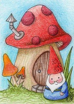 Gnome with Mushroom