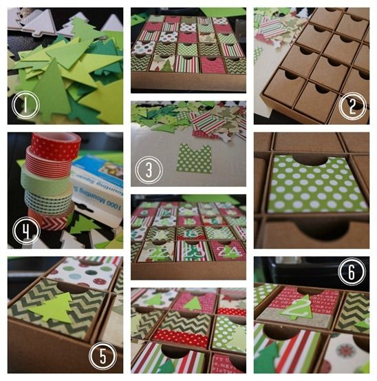 Ginger Snap Crafts: Christmas Advent Box {Lifestyle Crafts} tutorial