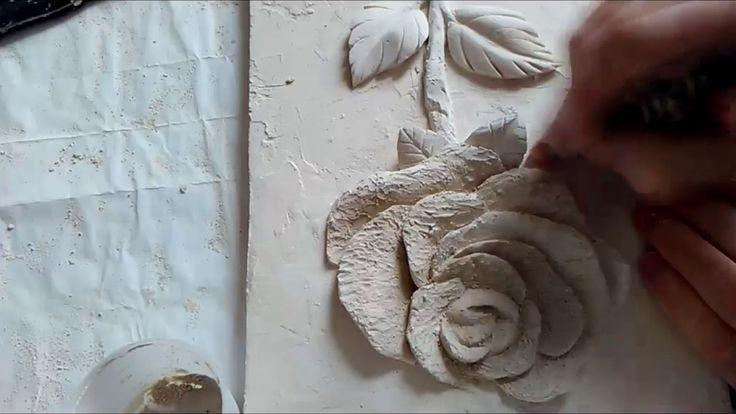 """Bas relief """"Birth of roses"""", master class 2. Барельеф """"Рождения розы"""", ..."""
