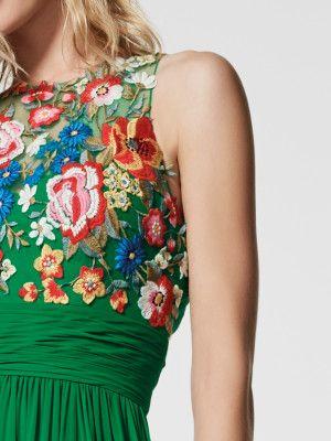 Imagen del vestido de fiesta verde (62038). Vestido GRIEGA largo sin mangas
