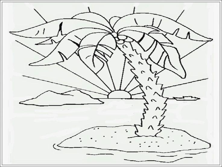 Contoh Gambar Mewarnai Pemandangan Alam Pantai dari www.anakcemerlang.com