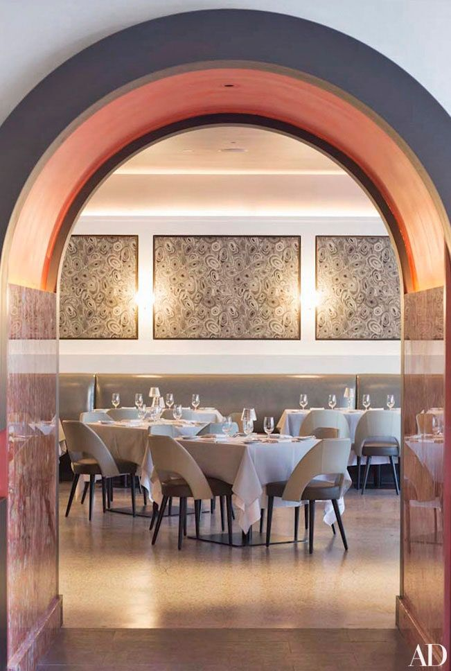 A Look At New York S La Sirena Architectural Digest In 2020 Restaurant Interior Commercial Space Design Restaurant New York